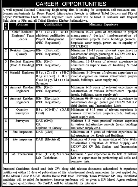 National Consulting Engineering Firm Jobs