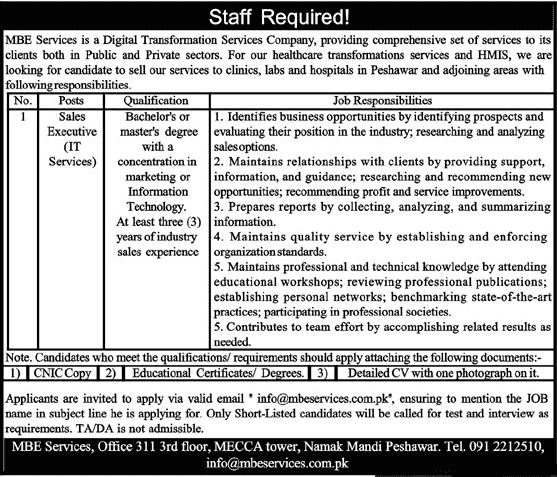 Mbe Services Jobs 2020