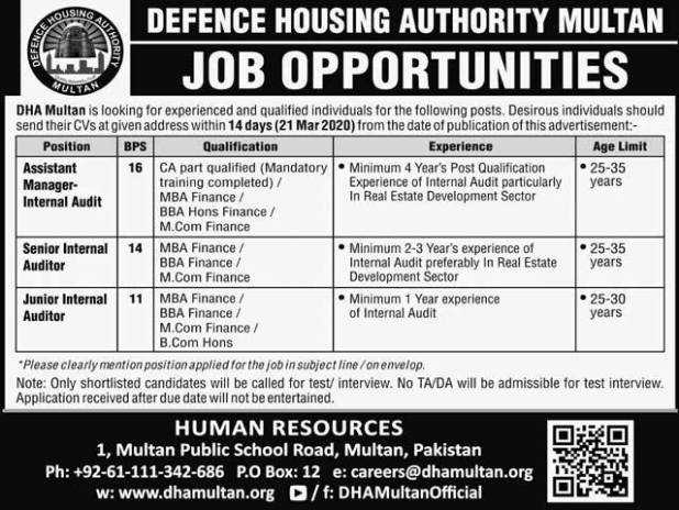 Defence Housing Authority Jobs 2020