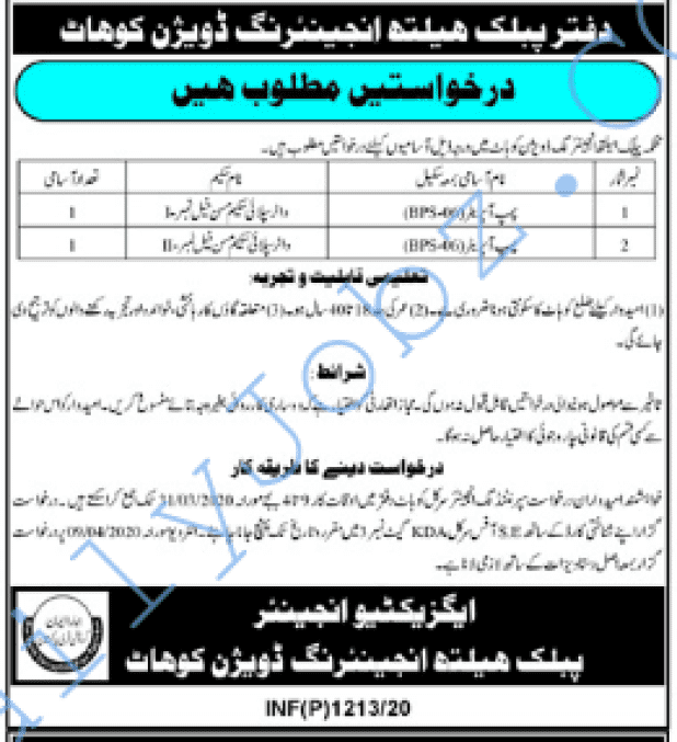 Public Health Engineering Jobs 2020