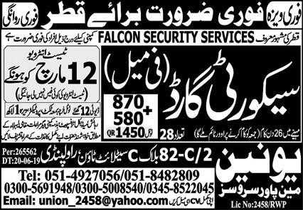 Qatar Security Guards Jobs 2020