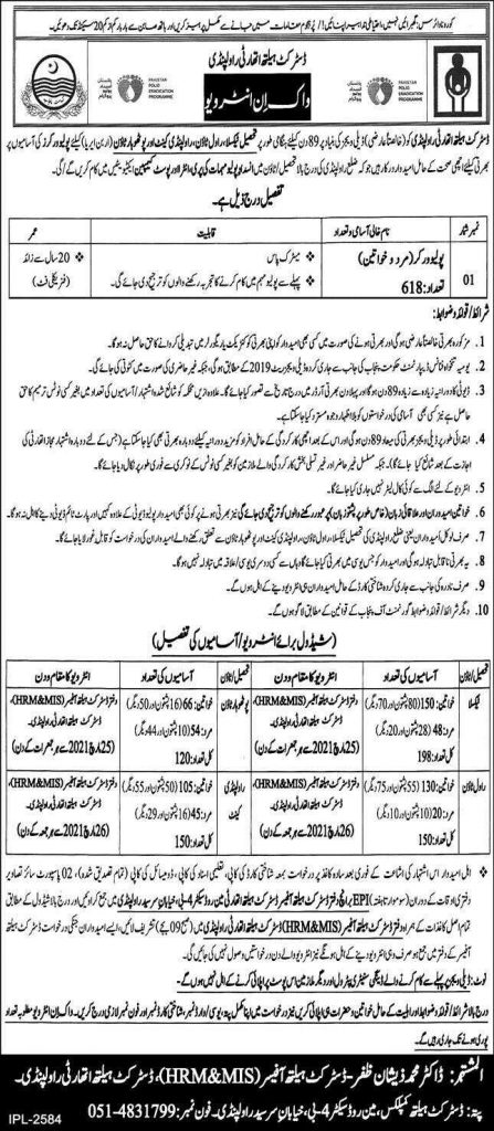 Polio Workers Jobs 2021