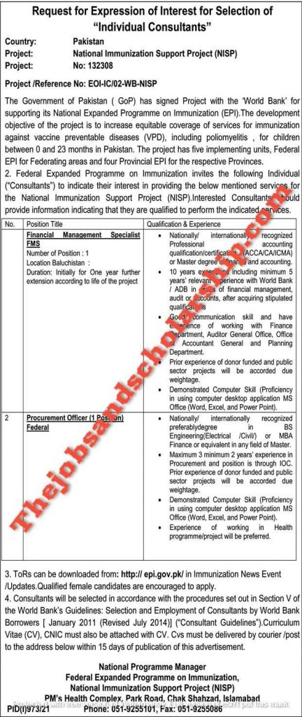 Government Jobs in Pakistan Today