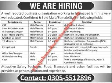 Private Jobs in Islamabad